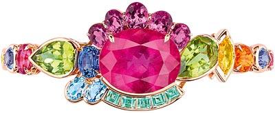Dior Granville Tourmaline Rose bracelet - JECR93012 - 750/1000 pink gold, diamonds, pink tourmalines, peridots, purple spinels, spessartite garnet, yellow beryls, sapphire, pink spinel, green tourmalines and aquamarines