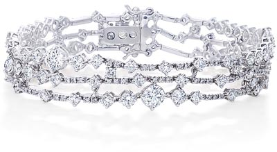 De Beers Arpegia bracelet worn by Kate Winslet at the Première of the movie  Steve Jobs