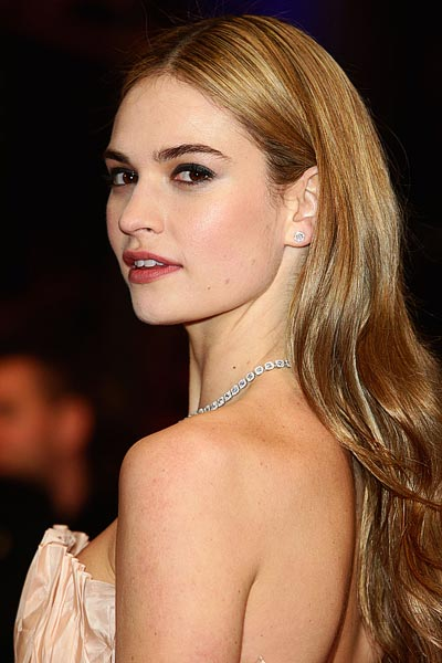 - Lily James at the Première of the movie Cinderella