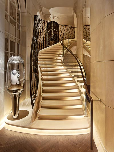 - Paris stone and wrought iron stairs