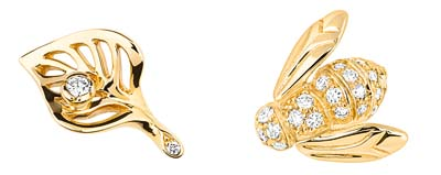 Rose Dior Pré Catelan Studs – Yellow gold and diamonds – Ref.: JJROC95037