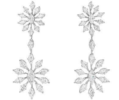 -  <b>Earrings</b> in18ct white gold set withdiamonds -  <b>Ref.: 849860-1001</b>