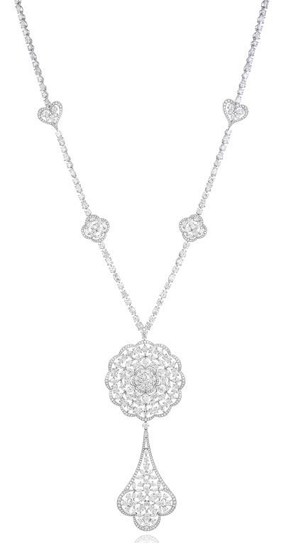 - <b>Pendant</b> in18ct white gold set withfancy-cut diamonds (33.8cts) <br><b>Ref.: 819702-1001</b>