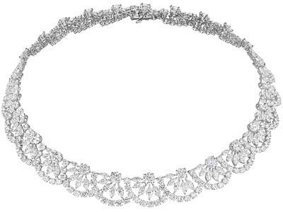 Necklace in18ct white gold set withmarquise-cut (29.1cts) and brilliant-cut diamonds (51.3cts). Ref.: 819854-1001