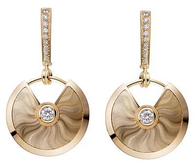 - <b>Amulette de Cartier Earrings - </b>Small model, yellow gold, diamonds