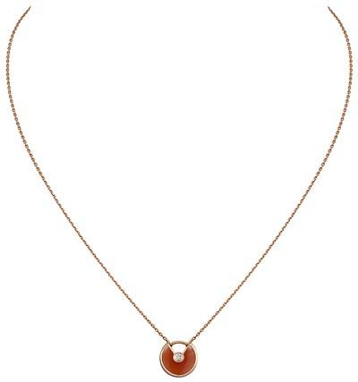 - <b>Amulette de Cartier Pendant Modèle XS</b> -  Pink gold,  adiamond, chain inpink gold