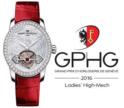 Girard-Perregaux Cat's Eye Tourbillon with Gold Bridge (ref. 99490D53A706-CK6A) Ladies' High-Mech Watch Prize of the Grand Prix d'Horlogerie de Genève  (GPHG2016)