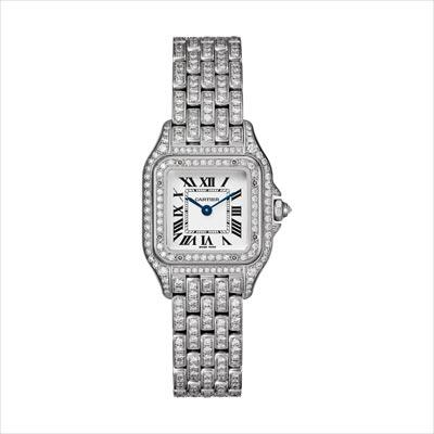 - <b>Panthère de Cartier watch</b> Small Model White Gold, Paved withBriilliant-Cut Diamonds - Ref.: HPI01129