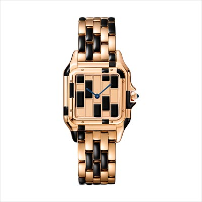 - <b>Panthère de Cartier watch</b> Medium Model Pink Gold &Black Lacquer Limited Numbered Edition: 30 pieces - Ref.: WGPN0011