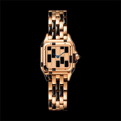 - <b>Panthère de Cartier watch</b> Small ModelPink Gold &Black Lacquer Limited Numbered Edition: 50 pieces - Ref.: WGPN0010