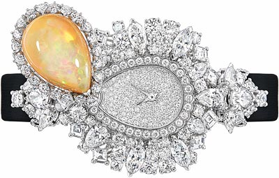 Dior Majestueuse Opal High Jewellery Timepiece - 750/1000 white gold, diamonds and light brown opal - Quartz movement - Ref.: JOLY93025