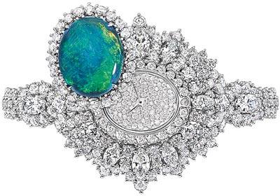 - Dior Exquise Opal High Jewellery Timepiece - 750/1000 white gold, 950/1000 platinum, diamonds and black opal - Quartz mouvement - Ref.: JOLY93024