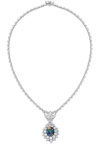 - Dior Majestueuse Opal necklace - 750/1000 white gold, 950/1000 platinum, diamonds and black opal - Ref.: JDDE93063