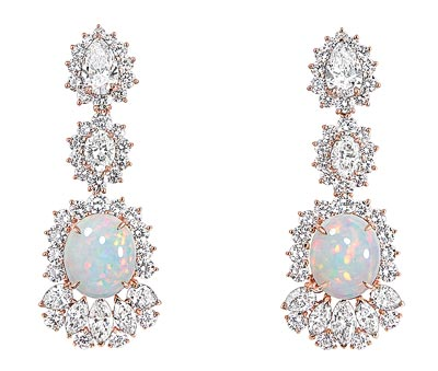 - Dior Fascinante Opal earrings - 750/1000 pink gold, diamonds and white opals - Ref.: JDDE93058
