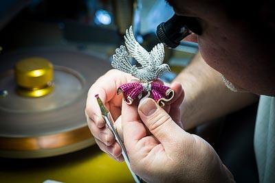 - Mystery Set™ work, rubies recut