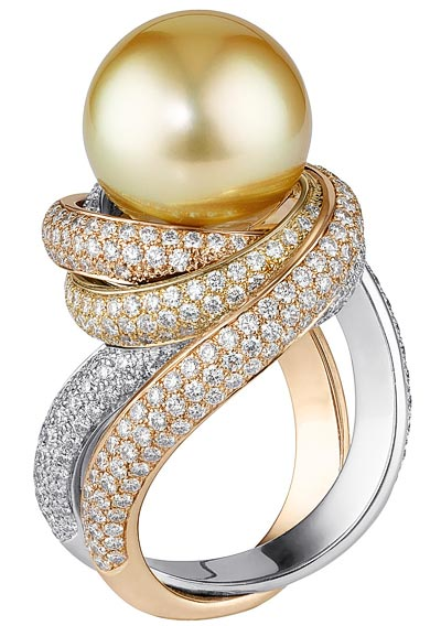 - Bague Trinity perles