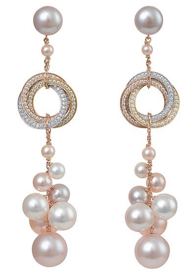 Cartier Trinity Twist - Pendants d'oreilles Trinity perles