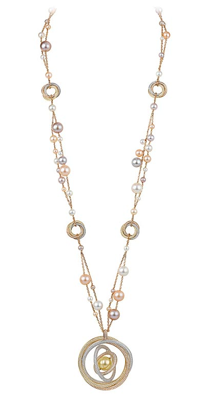 - Sautoir Trinity perles