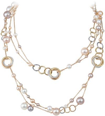 Cartier Trinity Twist - Collier Trinity perles