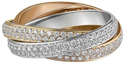 Cartier Trinity, l'originelle - Bague Trinity 3 ors &diamants