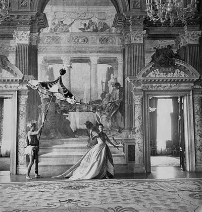 - Cecil Beaton, Daisy Fellowes wearing aDior dress ata ball hosted by Charles de Beistegui atthe Palais Labia inVenise, September 3, 1951, Vogue Paris, September 1951.<br>© Cecil Beaton / Vogue Paris.