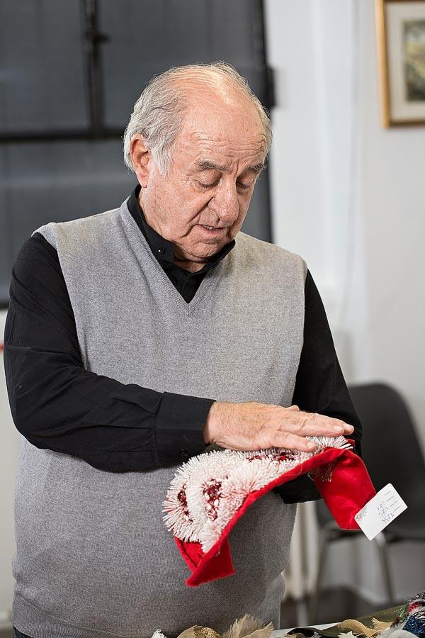 Pino Grasso, Master embroiderer, Milan, Italy