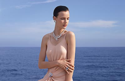 Mer de Vent clip: © Van Cleef & Arpels - Photo by Sonia Sieff – Dress by Gaspard Yurkievich