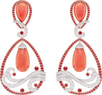 Vagues de Corail Rouge earrings: Coral, rubies, diamonds © Van Cleef &Arpels