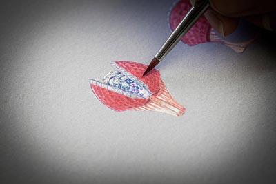 Savoir-Faire: Coquillage Mystérieux ring - Gouaché design