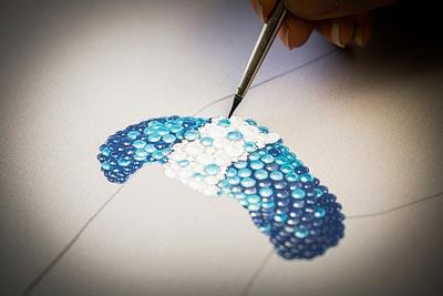 Savoir-faire:Rouleau Azur bracelet  - Gouaché design