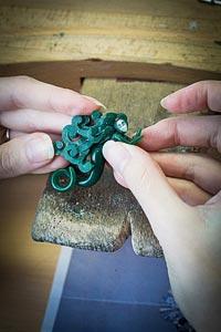 - Green wax work - shaping