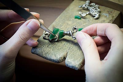 - Green wax work - sculpting