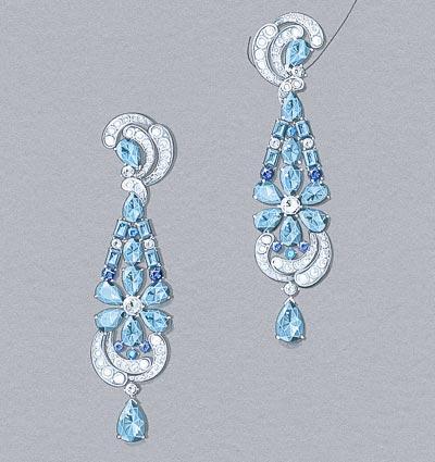Lagune Précieuse earrings: Gouaché © Van Cleef &Arpels