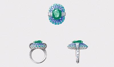 Adria ring: Gouaché © Van Cleef &Arpels