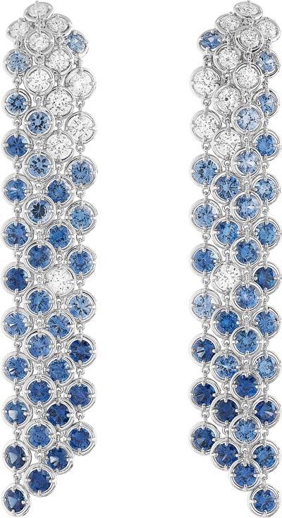 Brume de saphir earrings: Sapphires and diamonds. © Van Cleef &Arpels