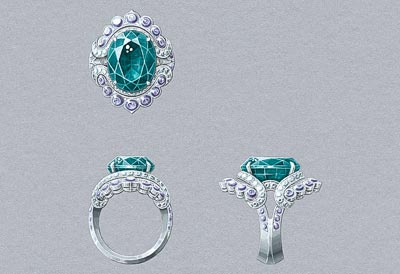 Nœud Marin ring: Gouaché © Van Cleef &Arpels