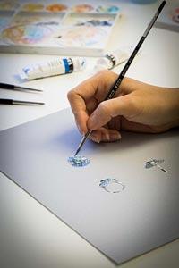 Savoir-faire: Adria ring © Van Cleef &Arpels - Gouaché design