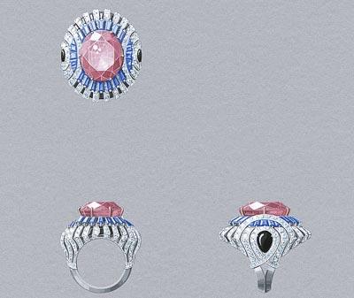 Rose Envoûtant ring: Gouaché © Van Cleef &Arpels