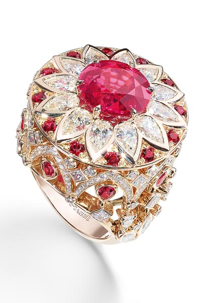 - Palazzo ring inpink gold - spinels &diamonds <b>G34HF300</b>