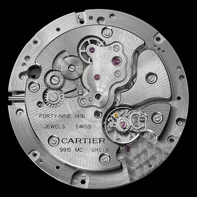 Manufacture mechanical movement with manual winding, calibre 9915 MC, on demand power reserve