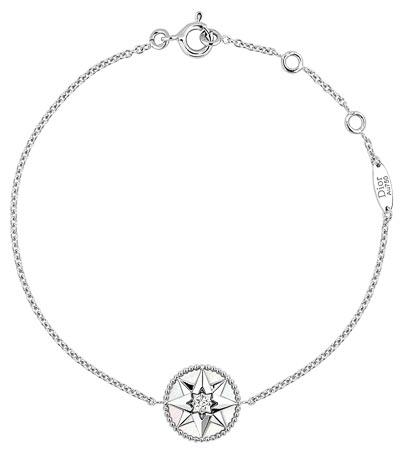"""Rose des vents"" bracelet  white gold, diamond and mother-of-pearl. Ref.: JRDV95022"