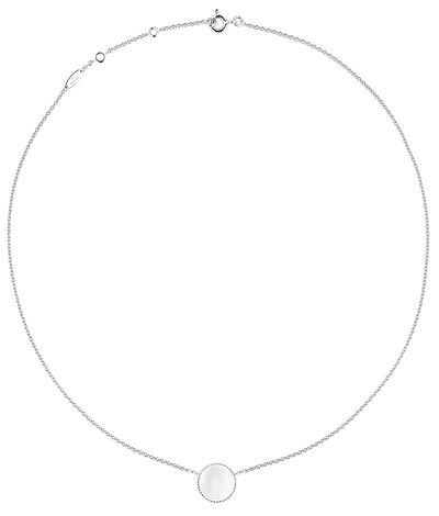 """- <b>""""Rose des vents"""" necklace</b> white gold - diamond and mother-of-pearl. <b>Ref.: JRDV95023</b>"""