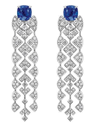 """Signature de Saphir"" earrings ""Signature de  Chanel"" Collection"