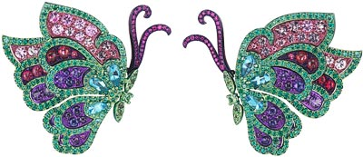 Butterfly Haute Joaillerie earrings. Ref.: 859760-9001