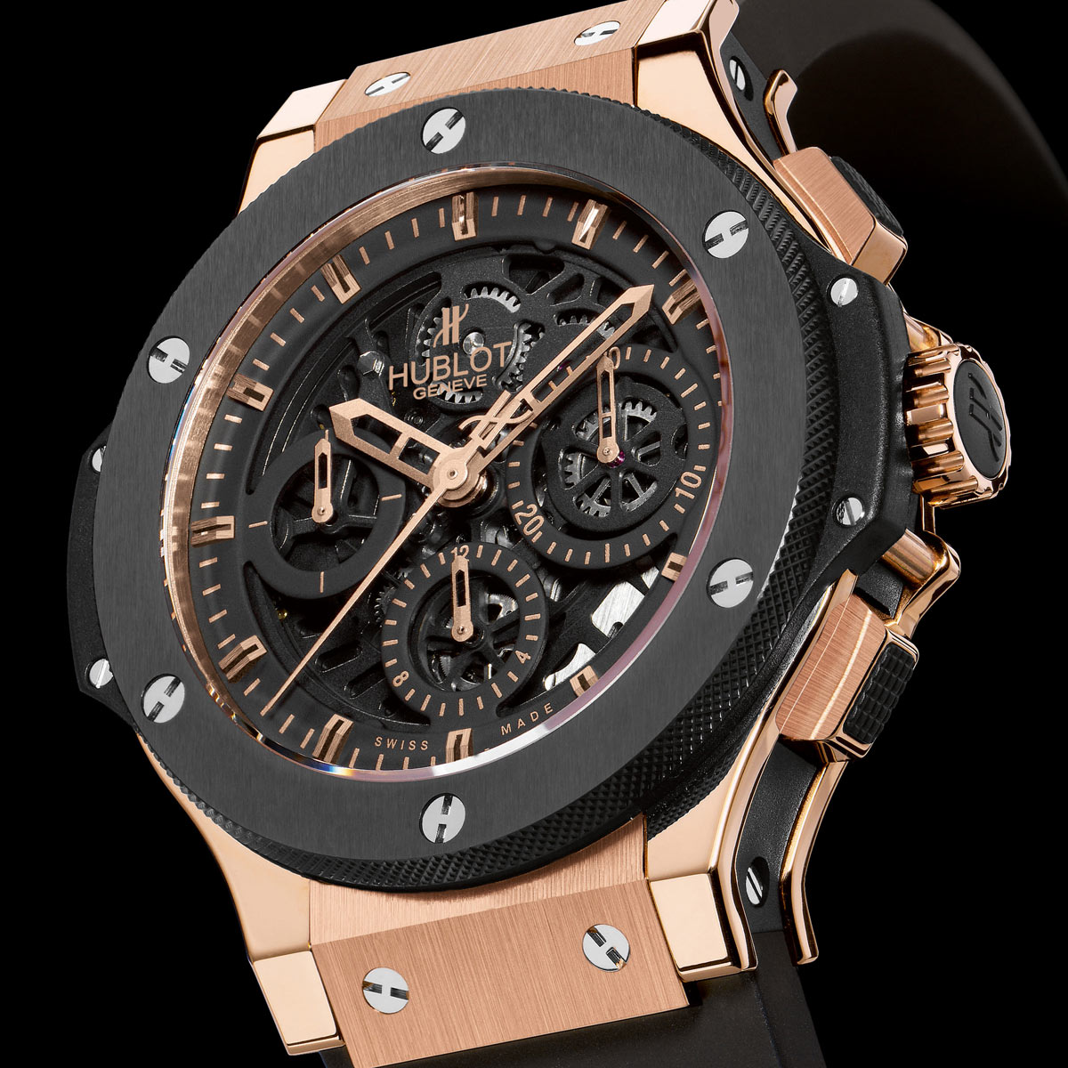 La Cote des Montres : Photo - Hublot Big Bang « Aero Bang » or céramique