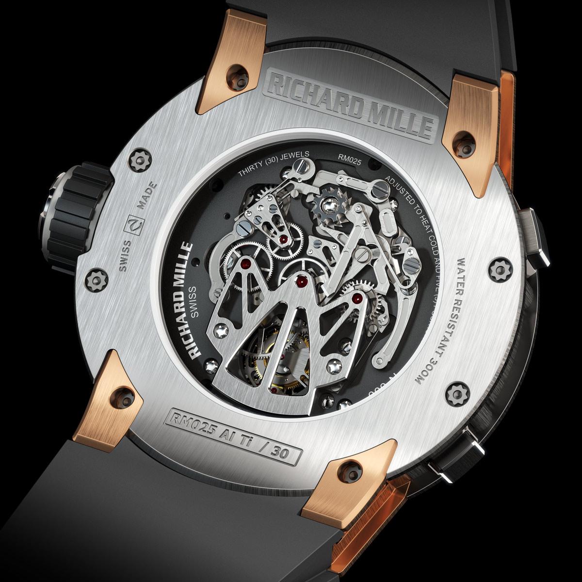La Cote des Montres : Photo - Richard Mille RM 025 chronographe de plongée à tourbillon