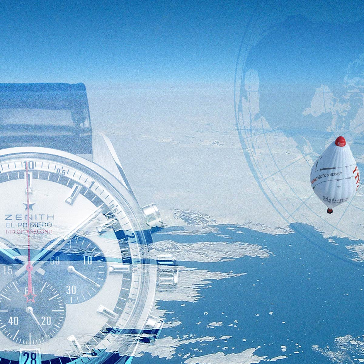 La Cote des Montres : Photo - Zenith retourne au pôle Nord à bord du ballon piloté par le médecin et explorateur Jean-Louis Etienne