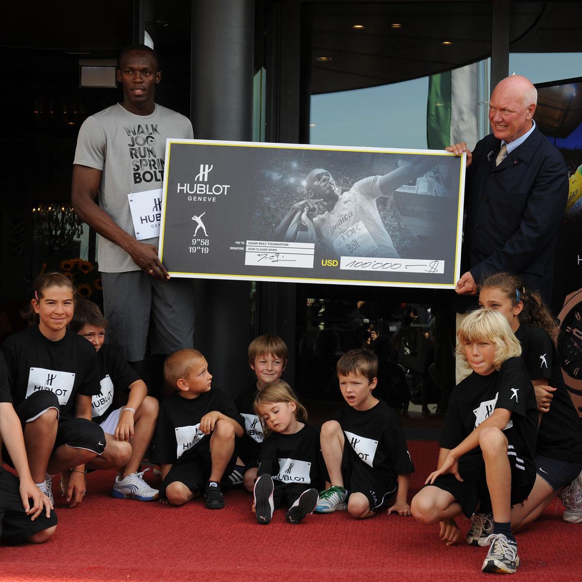 La Cote des Montres : Photo - Usain Bolt court un «100 m» à Nyon
