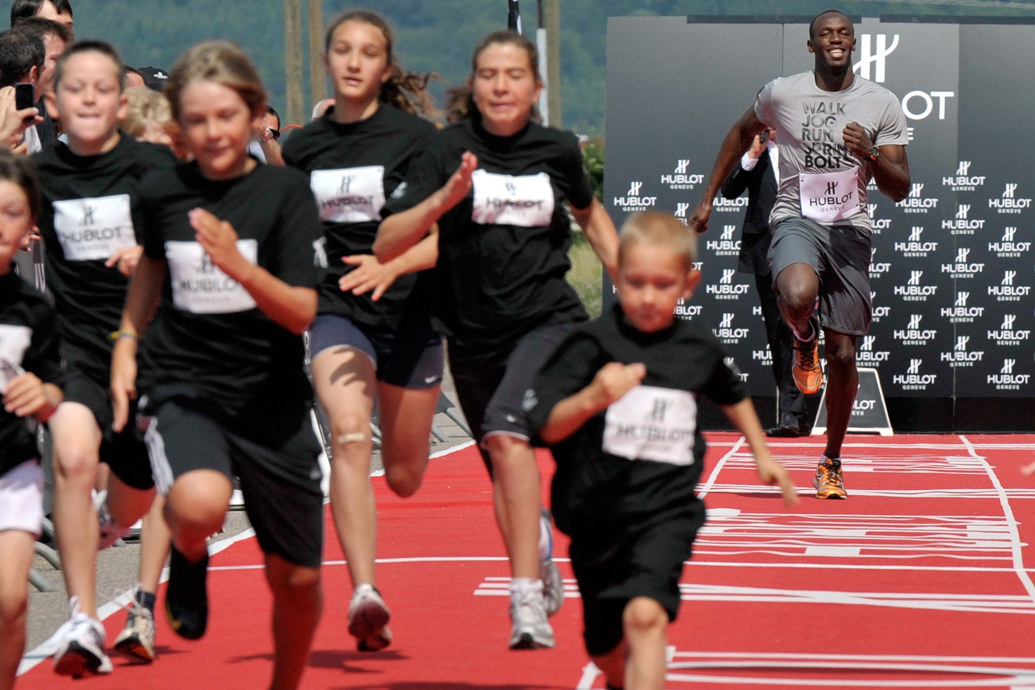 "The Watch Quote: Photo - Usain Bolt runs a ""100 m� in Nyon"