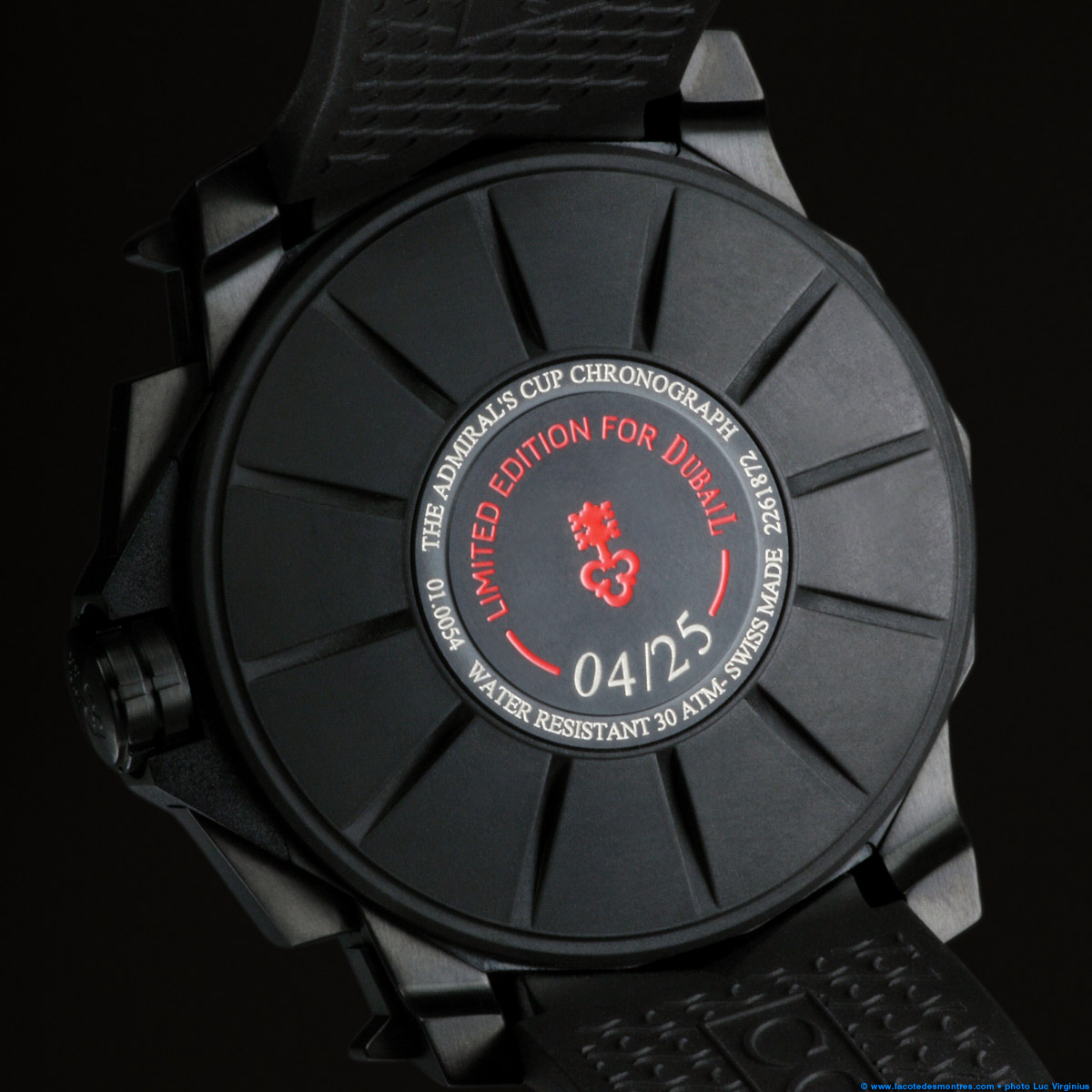 The Watch Quote: Photo - Corum Admiral's Cup Black Hull 48 Dubail Paris